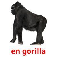 en gorilla picture flashcards
