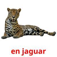 en jaguar picture flashcards