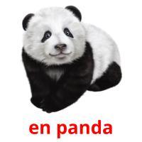 en panda picture flashcards