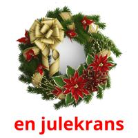 en julekrans picture flashcards