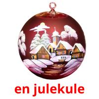 en julekule picture flashcards