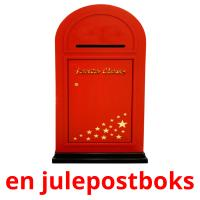 en julepostboks picture flashcards