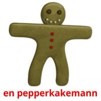 en pepperkakemann picture flashcards