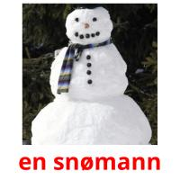 en snømann picture flashcards