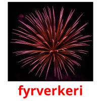 fyrverkeri picture flashcards