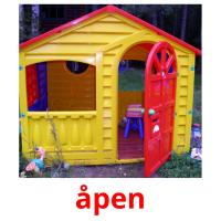 åpen picture flashcards