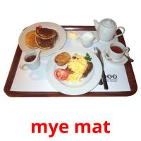 mye mat picture flashcards