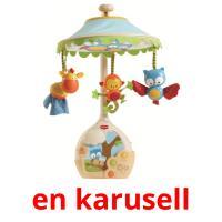 en karusell picture flashcards