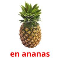 en ananas picture flashcards