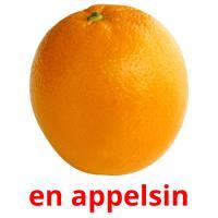 en appelsin picture flashcards