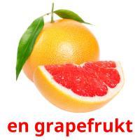 en grapefrukt picture flashcards