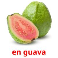 en guava picture flashcards