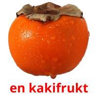 en kakifrukt picture flashcards