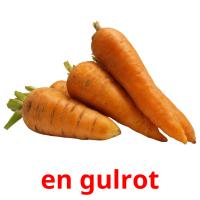 en gulrot picture flashcards