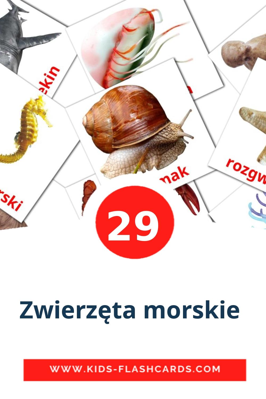 23 Zwierzęta morskie  Picture Cards for Kindergarden in polish
