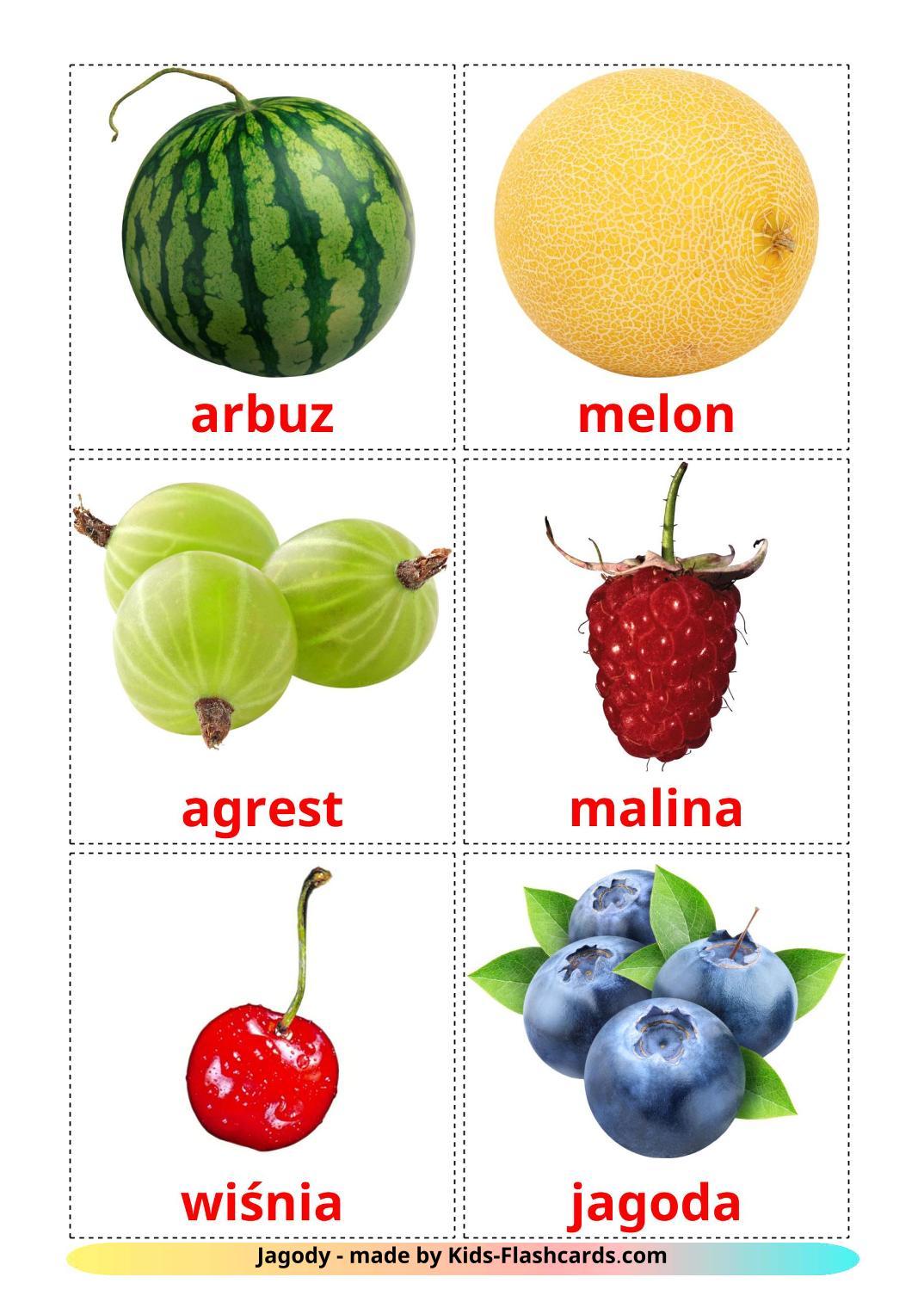 Berries - 11 Free Printable polish Flashcards