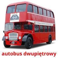 autobus dwupiętrowy picture flashcards