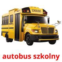 autobus szkolny picture flashcards