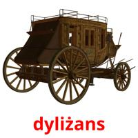 dyliżans picture flashcards