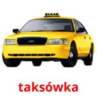 taksówka picture flashcards