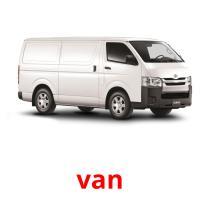 van picture flashcards
