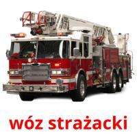 wóz strażacki picture flashcards