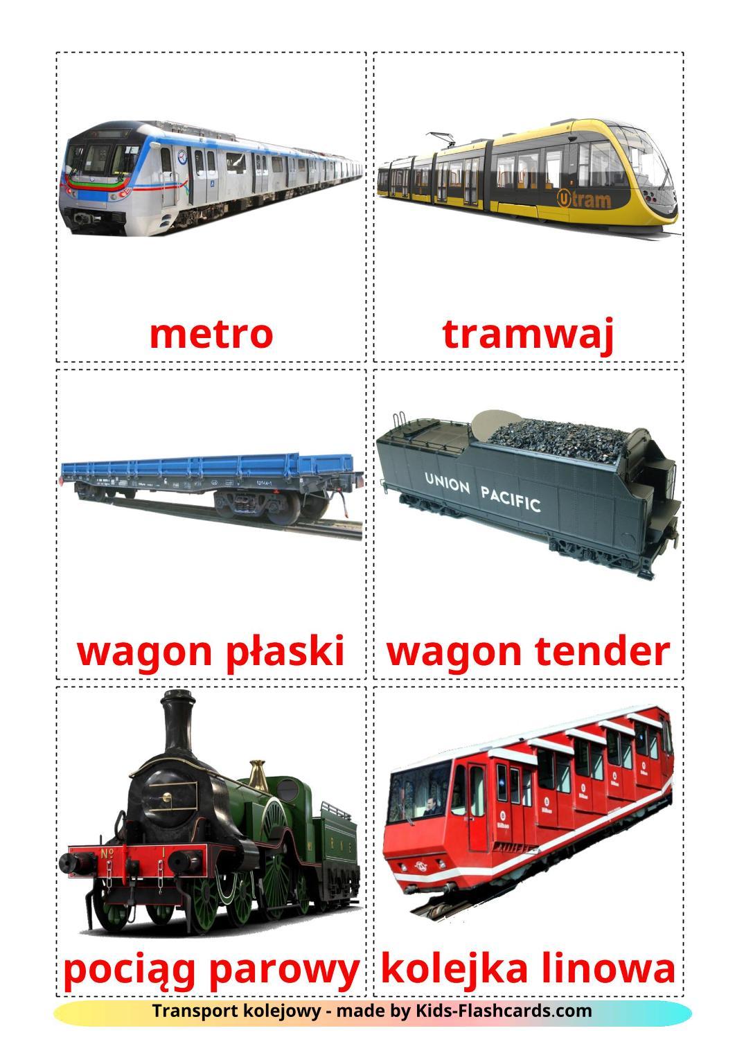 Rail transport - 18 Free Printable polish Flashcards