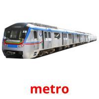 metro picture flashcards