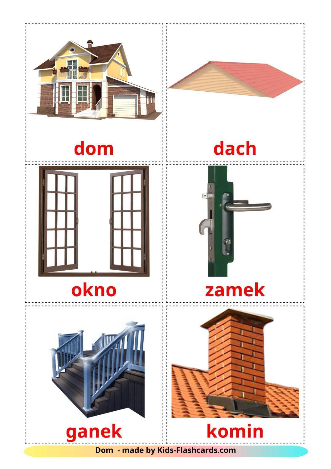 House - 25 Free Printable polish Flashcards