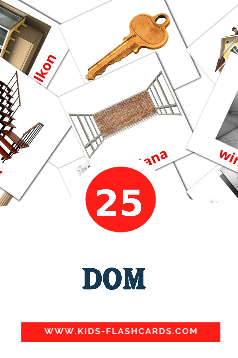25 Dom  Picture Cards for Kindergarden in polish