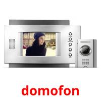 domofon picture flashcards