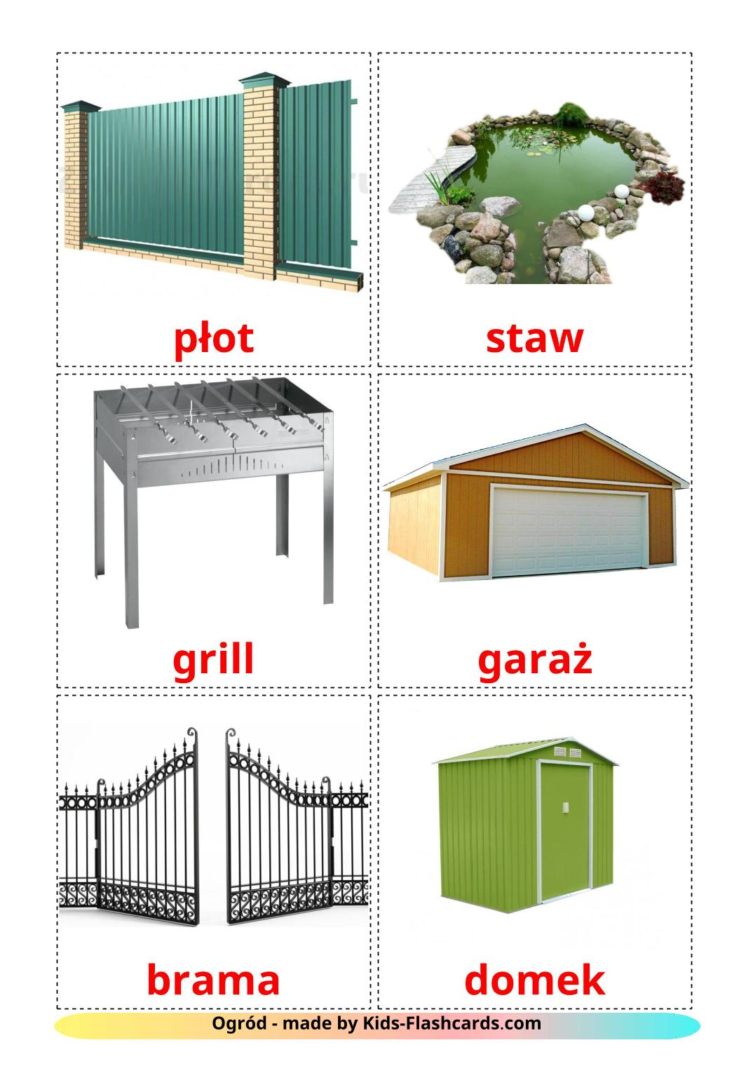 Garden - 18 Free Printable polish Flashcards