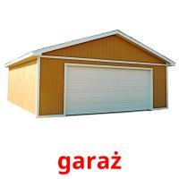 garaż picture flashcards