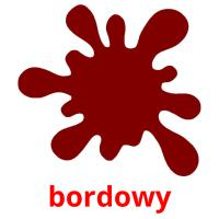 bordowy picture flashcards