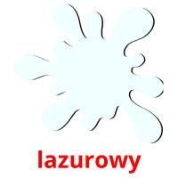 lazurowy picture flashcards
