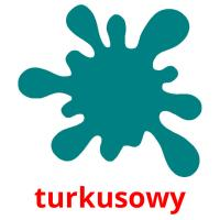 turkusowy picture flashcards