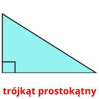 trójkąt prostokątny picture flashcards
