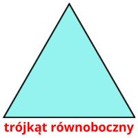 trójkąt równoboczny picture flashcards