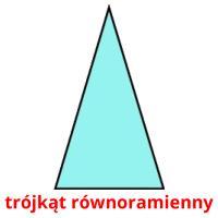 trójkąt równoramienny picture flashcards