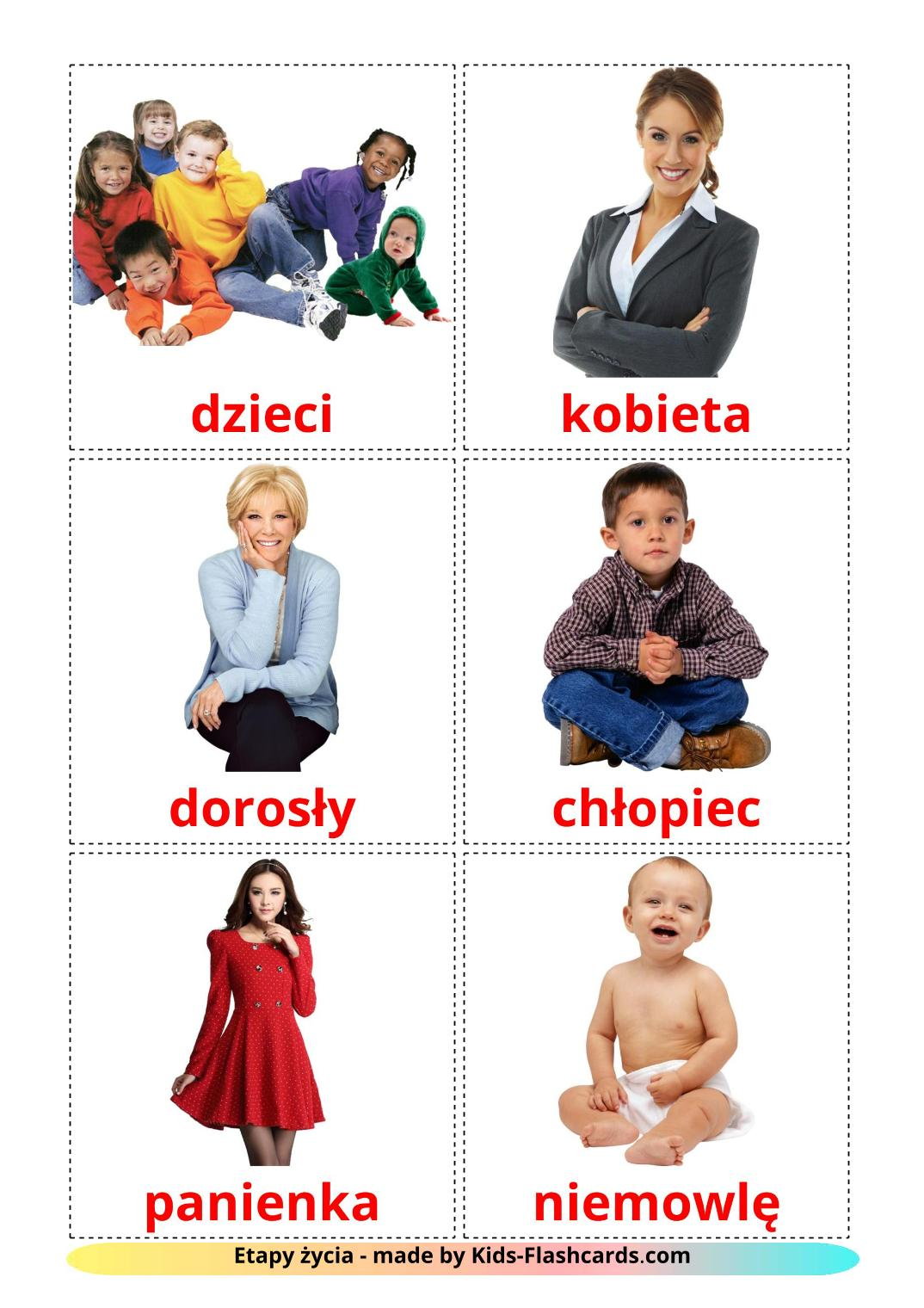 Stages - 12 Free Printable polish Flashcards