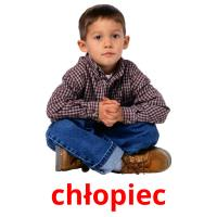 chłopiec picture flashcards