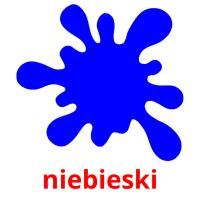 niebieski picture flashcards