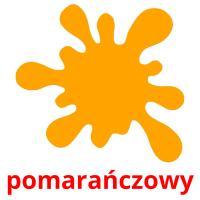 pomarańczowy picture flashcards