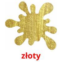 złoty picture flashcards
