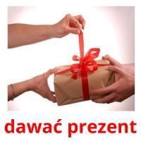 dawać prezent picture flashcards