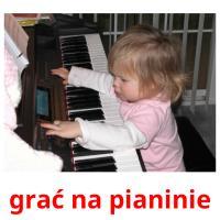 grać na pianinie picture flashcards