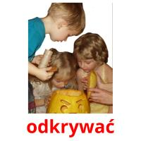 odkrywać picture flashcards