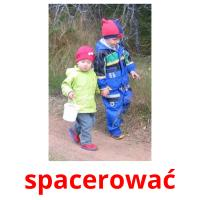 spacerować picture flashcards