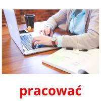 pracować picture flashcards