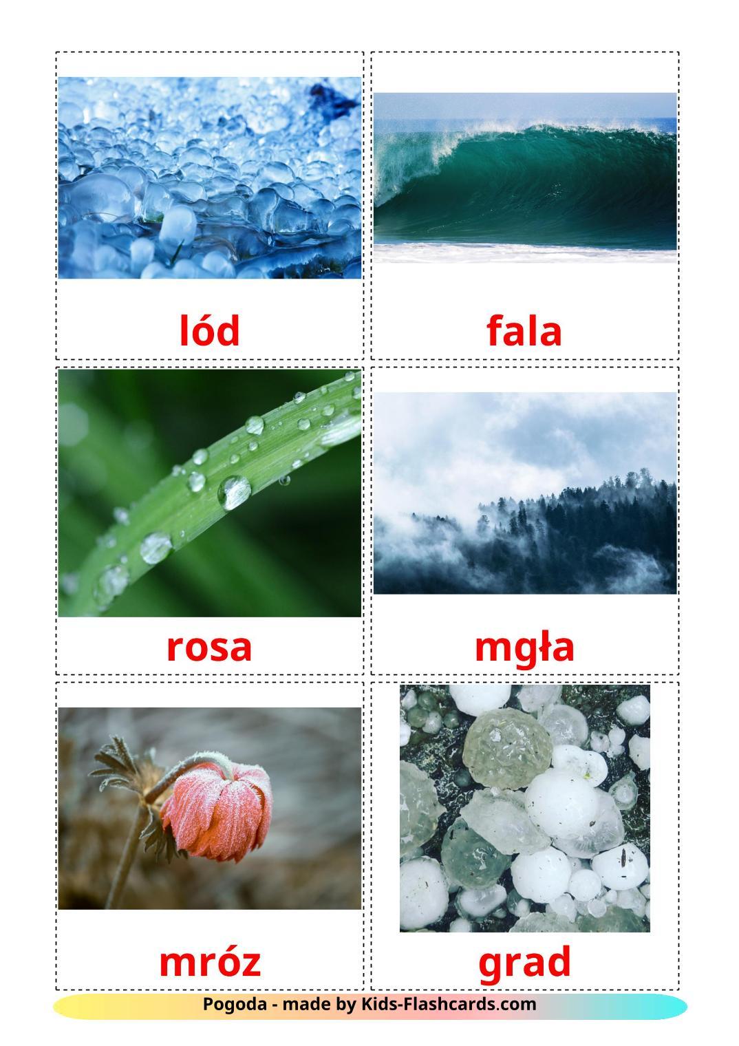 Weather - 31 Free Printable polish Flashcards